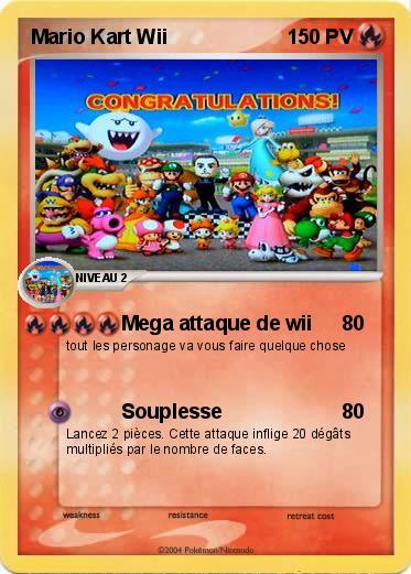 Pok mon mario kart wii 11 11 mega attaque de wii ma carte pok mon - Mario kart a colorier ...