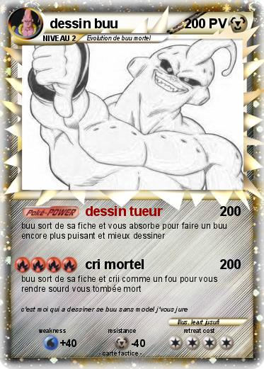 Pok mon dessin buu dessin tueur ma carte pok mon - Coloriage de carte pokemon ...