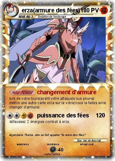 Pok mon erza armure des fees 3 3 changement d 39 armure ma carte pok mon - Carte pokemon fee ...
