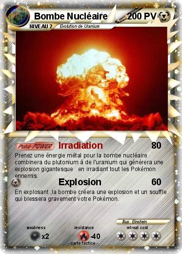 Pok 233 Mon Bombe Nucleaire 17 17 Irradiation Ma Carte Pok 233 Mon