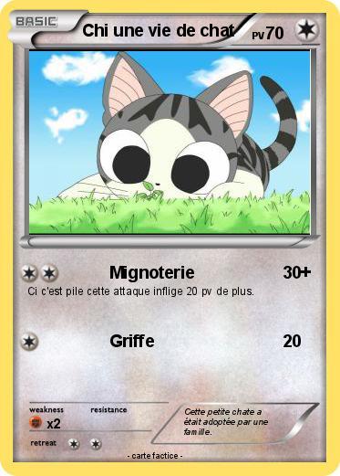 Pok mon chi une vie de chat 2 2 mignoterie ma carte pok mon - Imprimer une carte pokemon ...