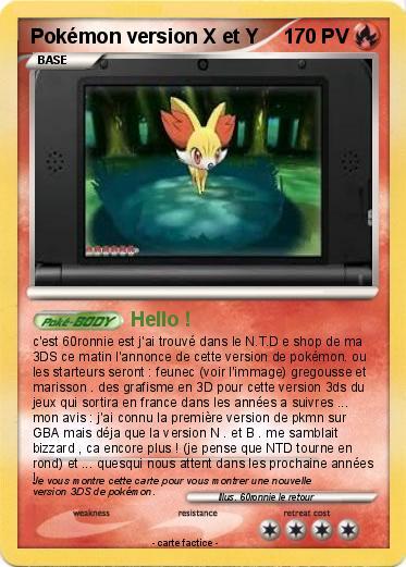 play online pokemon x version