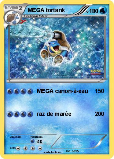 Pok mon mega tortank 59 59 mega canon eau ma carte pok mon - Tortank pokemon y ...
