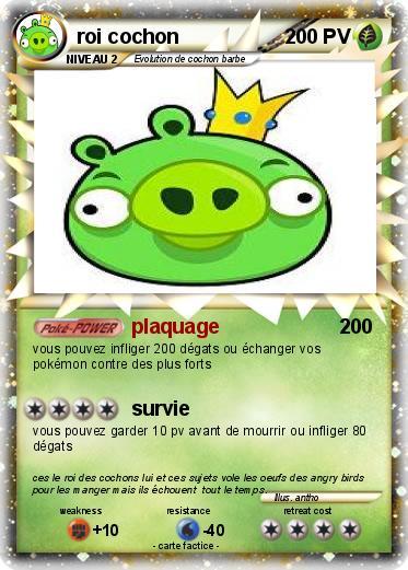 Pok mon roi cochon plaquage ma carte pok mon - Cochon angry bird ...
