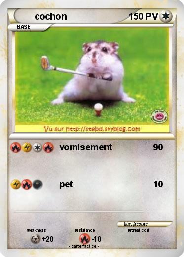 Pok mon cochon 157 157 vomisement ma carte pok mon - Cochon pokemon ...