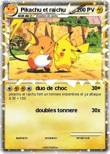 Pokemon Pikachu Et Raichu 1