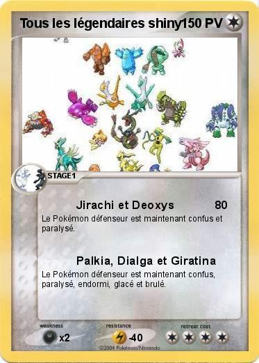 Pok mon tous les legendaires shiny jirachi et deoxys ma carte pok mon - Legendaire shiney ...