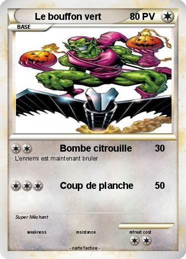 Pok mon le bouffon vert 1 1 bombe citrouille ma carte pok mon - Bouffon vert coloriage ...