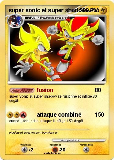 Pok mon super sonic et super shadow 6 6 fusion ma - Sonic et shadow ...