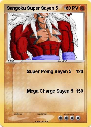 Pok mon sangoku super sayen 5 17 17 super poing sayen 5 ma carte pok mon - Sangoku super sayen 3 ...
