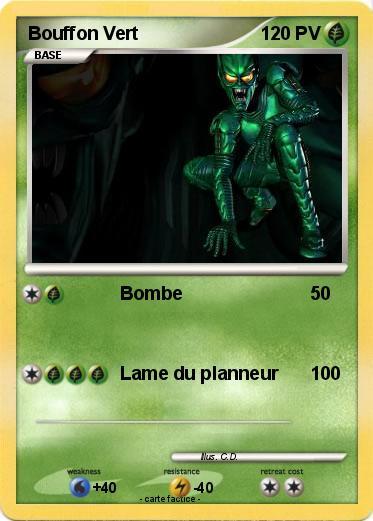 Pok mon bouffon vert 10 10 bombe ma carte pok mon - Bouffon vert coloriage ...
