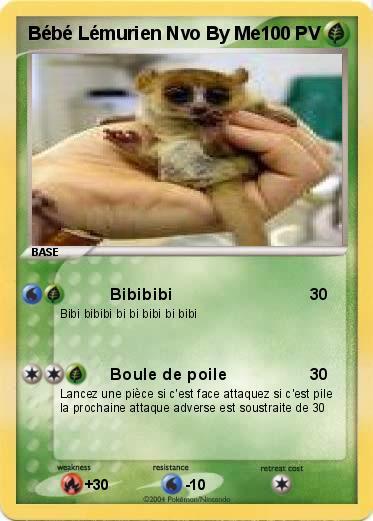 Pokemon Bebe Lemurien Nvo By Me