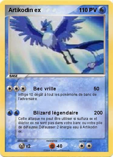 Pok mon artikodin ex 2 2 bec vrille ma carte pok mon - Elector pokemon x ...