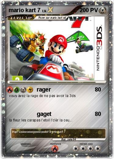 Pok mon mario kart 7 2 2 rager ma carte pok mon - Coloriage mario kart 7 ...