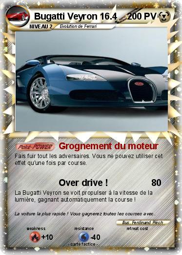 Pok mon bugatti veyron 16 4 2 2 grognement du moteur ma carte pok mon - Coloriage de bugatti ...