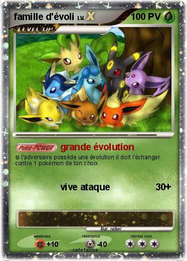 Pok mon famille d evoli 28 28 grande volution ma - Pokemon noir 2 evoli ...