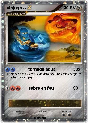 Pok mon ninjago 16 16 tornade aqua ma carte pok mon - Carte ninjago ...