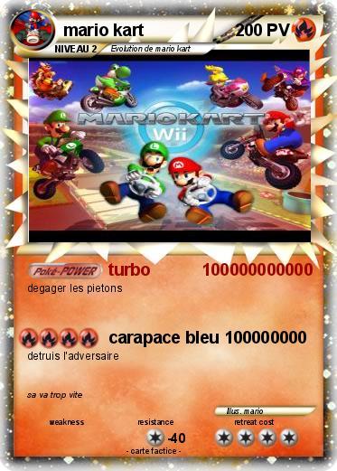 Pok mon mario kart 224 224 turbo 100000000000 ma carte pok mon - Coloriage mario kart 7 ...