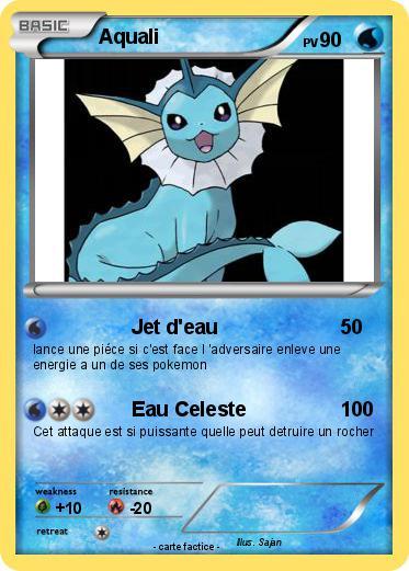 Pok mon aquali 355 355 jet d 39 eau ma carte pok mon - Carte pokemon aquali ...