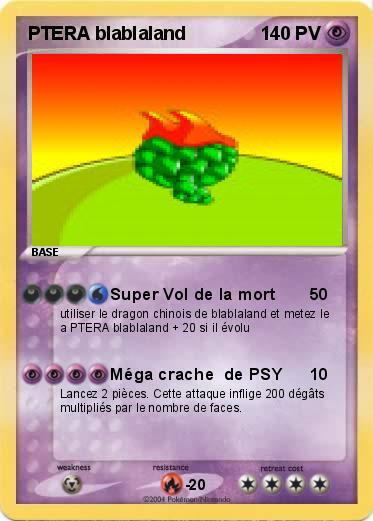 Pok mon ptera blablaland super vol de la mort ma carte - Pokemon ptera ...