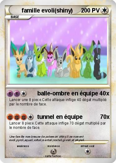 Pok mon famille evoli shiny balle ombre en quipe 40x ma carte pok mon - Carte pokemon aquali ...