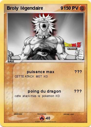 Pok mon broly legendaire 9 9 puisance max ma carte - Pokemon legendaire pokemon y ...