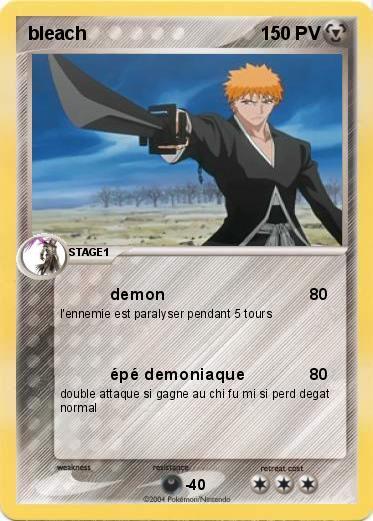 Ichigo Kurusaki (de bleach) dans Carte Pokemon en autres personnages ARthEzfoCKO