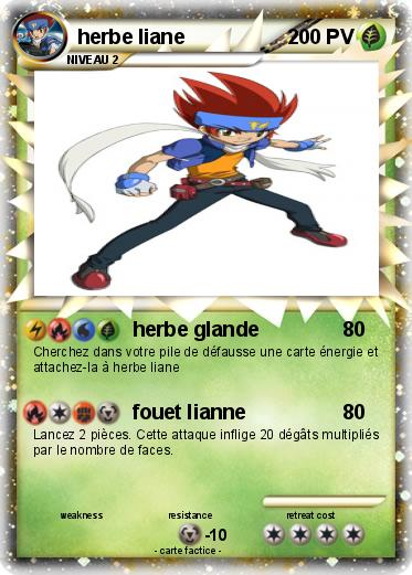 Pok mon herbe liane herbe glande ma carte pok mon for Haute herbe pokemon