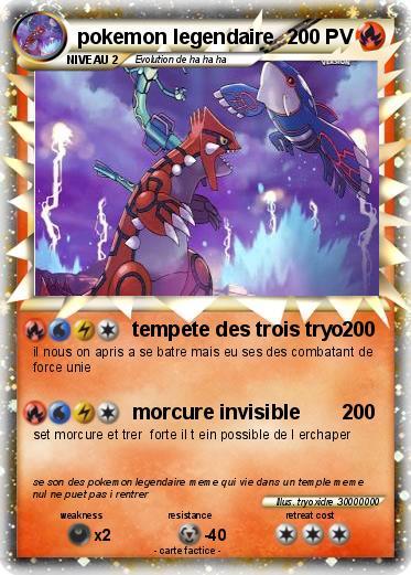 Pok mon pokemon legendaire 45 45 tempete des trois tryo ma carte pok mon - Photo de pokemon legendaire ...