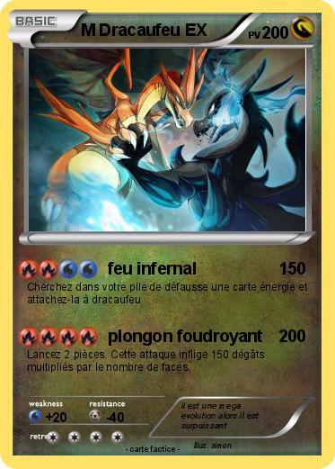 Pok mon m dracaufeu ex 15 15 feu infernal ma carte pok mon - Pokemon dracaufeu ex ...