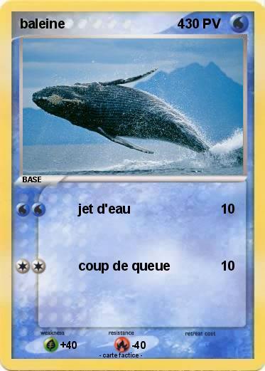 Pok mon baleine 4 4 jet d 39 eau ma carte pok mon - Pokemon baleine ...