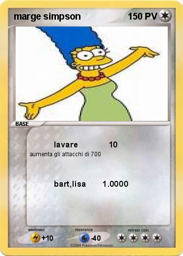 Pok mon marge simpson 3 3 lavare 10 ma carte pok mon - Bart simpson nu ...