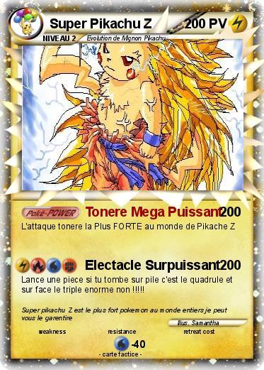 Pok mon super pikachu z tonere mega puissant ma carte pok mon - Tout les carte pokemon ex du monde ...