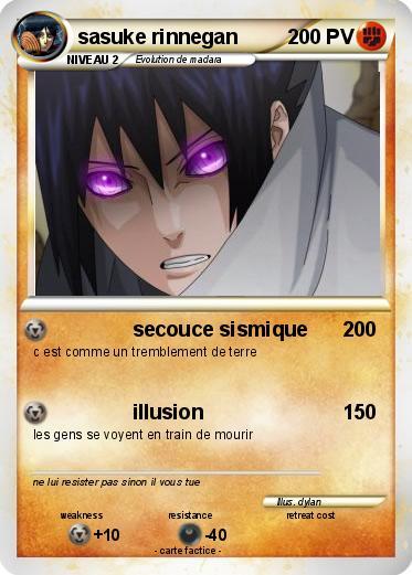 Pok mon sasuke rinnegan secouce sismique ma carte pok mon - Rikudo a imprimer ...