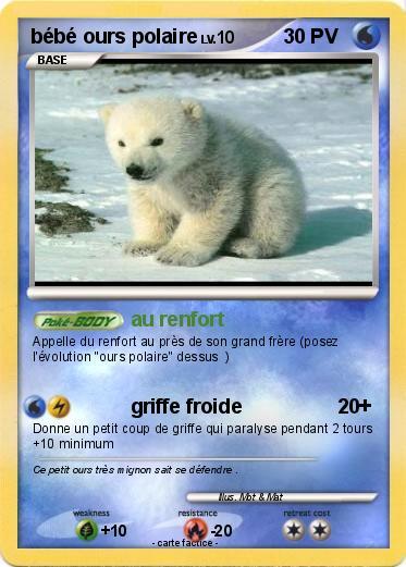 pok u00e9mon bebe ours polaire - au renfort