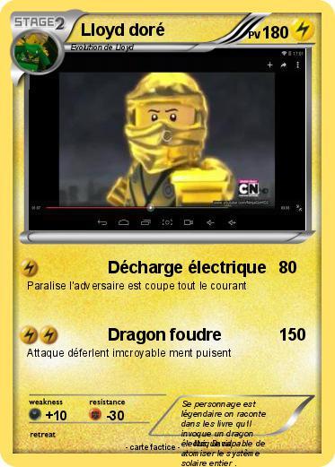 Pokémon Lloyd dore 1 1 - Décharge électrique - Ma carte ...