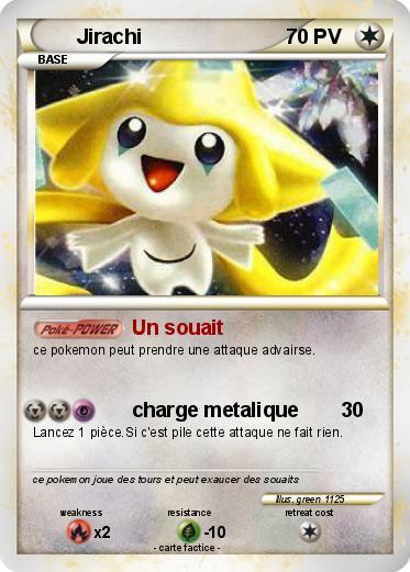 Pok mon jirachi 1202 1202 un souait ma carte pok mon - Carte pokemon jirachi ...