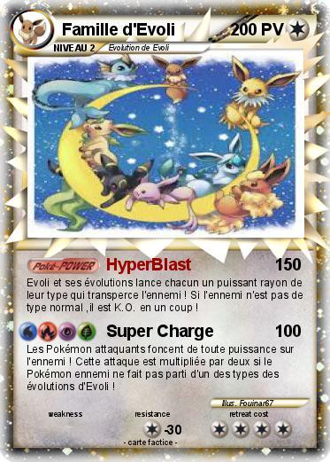 Pok mon famille d evoli 27 27 hyperblast ma carte pok mon - Famille evoli pokemon ...