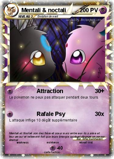 Pok mon mentali noctali attraction ma carte pok mon - Mentali pokemon ...