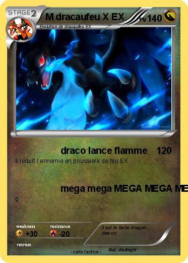 Pok mon m dracaufeu x ex 4 4 draco lance flamme ma - Pokemon dracaufeu x ...