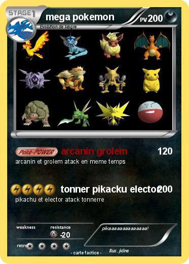 Pok mon mega pokemon 20 20 arcanin grolem ma carte pok mon - Elector pokemon x ...
