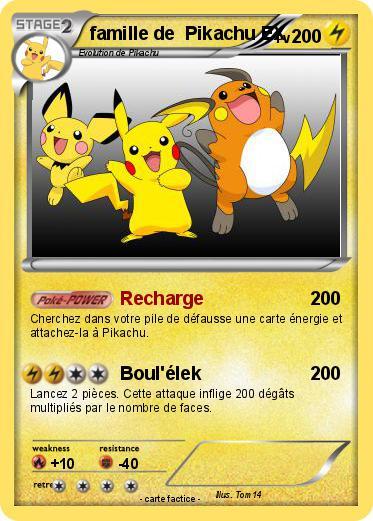 Pok mon famille de pikachu ex recharge ma carte pok mon - Pokemon famille pikachu ...