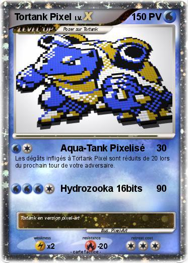 Pixel Art Facile Pokemon Tortank