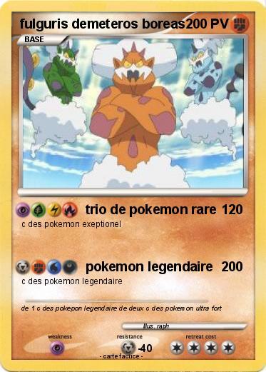 Carte pokemon boreas fulguris demeteros