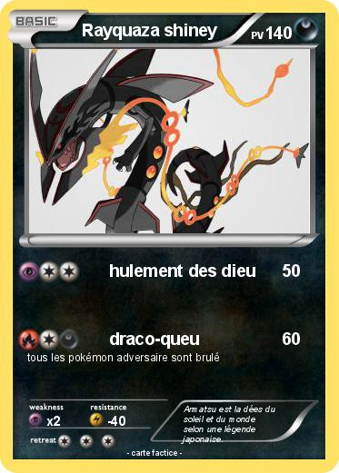 Pok mon rayquaza shiney 84 84 hulement des dieu ma - Carte pokemon rayquaza ...