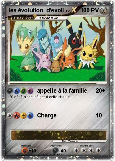 Pok mon les evolution d evoli appelle la famille ma carte pok mon - Famille evoli pokemon ...