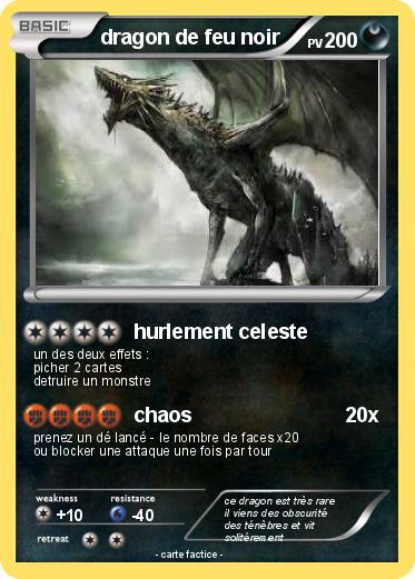 Pok mon dragon de feu noir hurlement celeste ma carte - Pierre feu pokemon noir ...