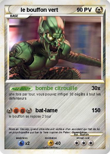 Pok mon le bouffon vert 4 4 bombe citrouille ma carte pok mon - Bouffon vert coloriage ...