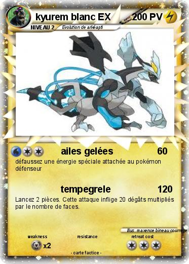 Pok mon kyurem blanc ex 4 4 ailes gel es ma carte pok mon - Carte pokemon kyurem blanc ex ...
