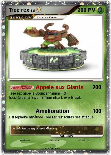 Pok mon tree rex 168 168 appele aux giants ma carte pok mon - Coloriage eye brawl ...